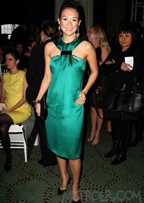 章子怡华贵礼服亮相纽约DIOR高级定制秀场 迪奥 Dior图片